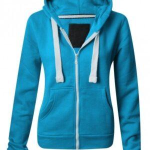 Zip Turquoise Hoodie