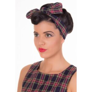 Vintage Inspired 1950s Chequered Headband