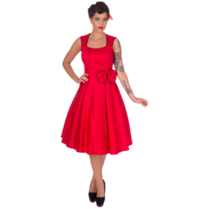 Harriet 50's Style Bow Swing Dress