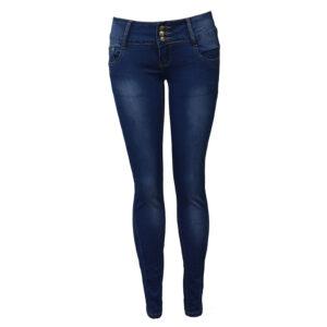 Three-Button Denim Jeans