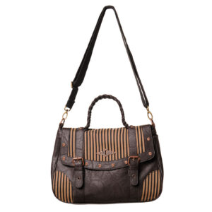 Brown Stripe Banned Handbag