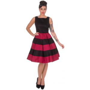 Anna Stripe Retro Rockabilly Swing Dress