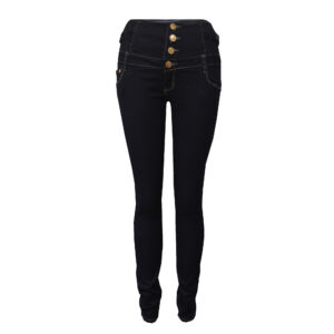 High-Waisted Dark Navy Jeans