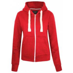 Zip Red Hoodie